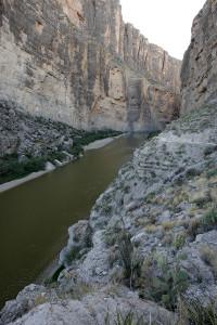 The Rio Grande in the canyon