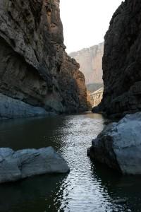 The Rio Grande flowing through Santa Elena Canyon