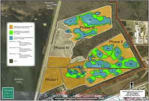 Master plan for the prairie restoration. Phase IV is just beginning.